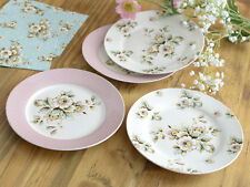 Set of 4 KATIE ALICE Cottage Flower Shabby Chic SIDE PLATES Vintage Style