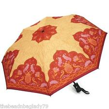 NEW COYNES ANNA DAVIS DREAM LOTUS ORANGE YELLOW PINK UMBRELLA AUTO OPEN CLOSE