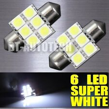 20X SMD 6-LED Map/Dome Interior Lights Bulbs 6000K Xenon White 31MM Festoon