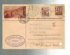 1942 Switzerland Postcard Cover to Shanghai Ghetto China Judaica Dr Fritz Daniel