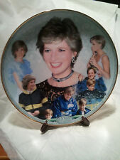 "Princess Diana Memorial Plate ~ By Danbury Mint ~ ""DIANA  JOY AND LAUGHTER"""