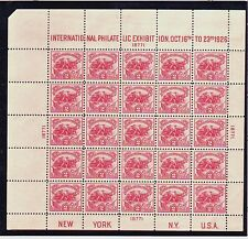 US # 630 1926 White Plains Souvenir sheet of 25, VF NH, pl. 18771 UL - BRIGHT