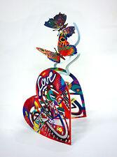 David Gerstein Pop Art Open Heart Metal Sculpture Contemporary Modern Art