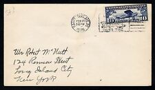 C10 AIR MAIL COVER ST. LOUIS, MO - NEW YORK, NY  FEB. 20, 1928  (ESP#176)