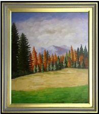 Framed A Landscape with Pine Woods, Hand Painted Oil Painting 20x24in