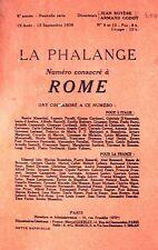 ROMA FASCISMO PERIODICO IN LINGUA FRANCESE
