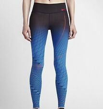 Women Nike Power Legendary Printed Tight Fit Leggings Size M [814287-435]