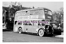 gw0024 - Severns Bus KWW 514 to Moorends at Christchurch in 1961 - photograph