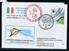 66950) LH FF München - Shanghai China 15.3.2002, Aerogramm Italien Deltaplano