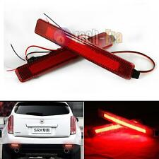2 Red Lens LED Bumper Reflectors as LED taillight brake lights for Cadillac SRX