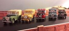 1:76 OO 00 Scala Land Rover Serie 1 80 86 88 107 109 Oxford Modelli Set of 5