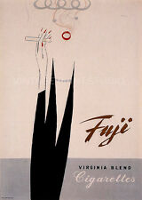 Fuji Cigarettes, 1951 Vintage Advertising Giclee Canvas Print 20x28