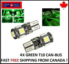 4PCS T10 GREEN194 168 1W 5SMD LED No Error Canbus Side Lamp Wedge Light Bulb  1W