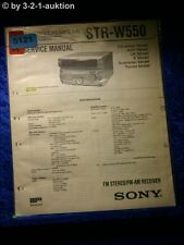Sony Service Manual STR W550 Receiver  (#5121)