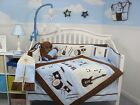 CRIB BEDDING SET BLUE ROCK N' ROLL BAND Infant Baby Boy Nursery 14 Pc Quilt+ NEW