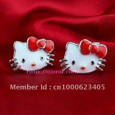 HELLO KITTY RED BOW STUD EARRINGS