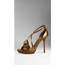 NIB BURBERRY PRORSUM SNAKESKIN PYTHON LEATHER PLATFORM SANDALS SHOES EU 36 US 6