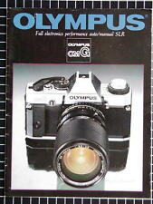 OLYMPUS OM-G BOOKLET 215mm x 280mm (8.5''x 11'') 14 pages 09/1982 RARE