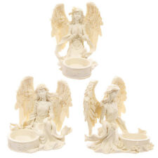 Angel Figurine Tea Light Holder Votive Candle Incense Cone Burner Statue Figure