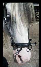 Black Spanish Iron On leather CAVESSON Mehis BRIDLE SHOW 3 RING SERRETA Training
