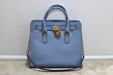 NWT MICHAEL Michael Kors Hamilton Large North South Tote in Pale Blue MSRP $358