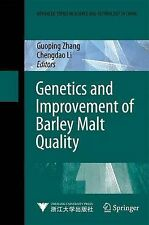 Genetics and Improvement of Barley Malt Quality  Springer-Verlag Berlin as new