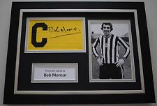 Bob Moncur SIGNED FRAMED Captains Armband A4 Display Newcastle United AFTAL COA