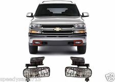 Replacement Clear Fog Lights 1999-2002 Silverado/2000-2006 Tahoe Suburban New