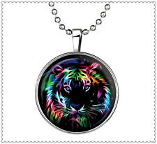 Fashion Punk Style tiger Glow in the Dark Stainless Steel Necklace Pendant  NEW