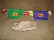 Ganz Webkinz clothes lot 2 shirts & 1 short pants NO CODES