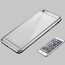Fashion Water Clear Crystal Rubber Plating TPU Soft Case Cover For iPhone 6s Y1