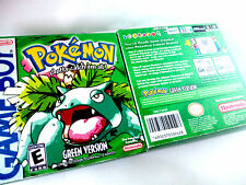 NEW CUSTOM POKEMON GREEN WITH BOX ENGLISH HOMEBREW CUSTOM GAMEBOY GBA ADVANCE
