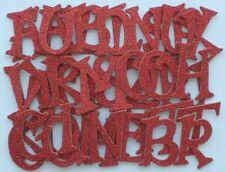 "Doodlebug - ROUGE RED - GLiTTER Alphabet Chipboard Letters Die Cuts 1.5"" tall"
