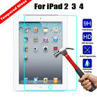 9H Premium Real Tempered Glass Screen Protector Flim for Apple iPad 2 3 4