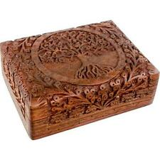 Tree of Life Shisham Wood Tarot Box!  pagan wicca witch