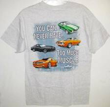 NEW! CHEVROLET MUSCLE CARS T-SHIRT Gray Grey Size Medium M Tee Shirt Chevy Car