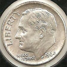 1964 Choice Brilliant Uncirculated Roosevelt Dime #1