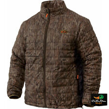 DRAKE WATERFOWL NON-TYPICAL DOWN PACKABLE PAC-JACKET COAT BOTTOMLAND CAMO MEDIUM