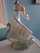 "FRENCH ART DECO LARSEN & CO COGNAC SAILING SHIP ""INVINCIBLE""  GLASS  DECANTER"