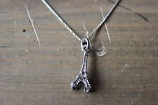 Vintage Sterling Silver Eiffel Tower Pendant Necklace