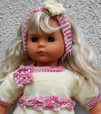 knitting pattern for an 16inch doll using DK yarns