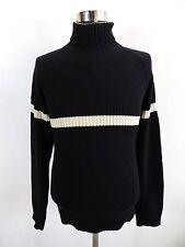 Men's Tommy Hilfiger Jumper Funnel Neck, Size M Medium, Black, Cotton #BL1075