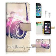 "iPhone 6 (4.7"") Print Flip Wallet Case Cover! Old Camera P1465"