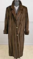 Super Soft Rich Brown Sheared Mink Fur Coat L