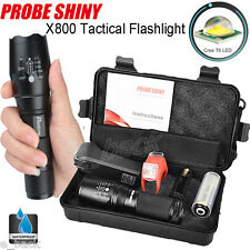 7000LM XML T6 LED Tactical Survival Flashlight+18650 Battery+Charger+Case Pouch