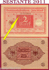 GERMANY GERMANIA  2 MARK 1920  --- SERIE 1 ---  first issue scarce  P 59 FDS/UNC