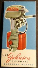 "VINTAGE 1949 JOHNSON  OUTBOARD MOTOR SALES BROCHURE OPENS TO 12"" X 12""  (226)"