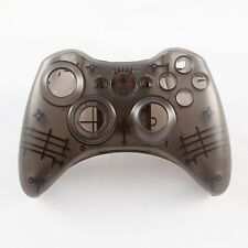 Nero Custom Crystal Clear Custodia CONTROLLER WIRELESS per XBOX 360 Pad