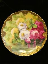 VINTAGE HAVILAND HANDPAINTED DECORATIVE  LIMOGES PLATE