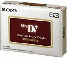 5 Sony HD HDV 1080p NASTRO CASSETTA MINI DV dvm63hd (UK Venditore) BRAND NEW ORIGINALE